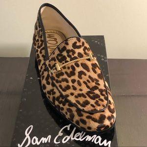 New Sam Edelman Leopard Calf Hair Loafers, Size 9
